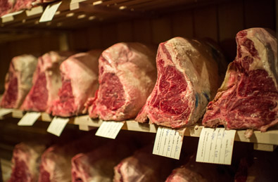 Gallaghers Steakhouse meat locker